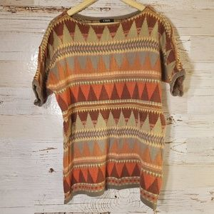 Chaps short sleeve sweater top
